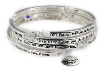 4030561 The Lord's Prayer Christian Stretch Bracelet Jesus Religious Christ B…