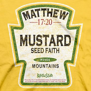 Mustard Seed Faith Moves Mountains Christian T-Shirt
