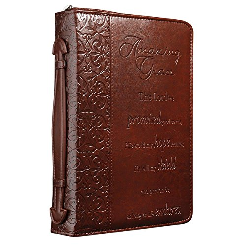 Embossing Fabric Book Cover : Quot amazing grace embossed bible book cover large