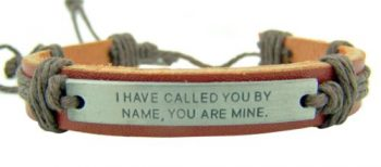 I Have Called You By Name Inspirational 8 Inch Adjustable Youth Religious Bracelet
