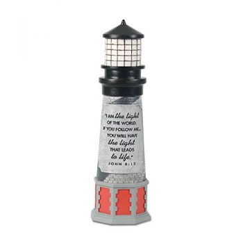 Lighthouse Christian Products I Am The Light Sculpture, 2 1/4 X 8 1/2″