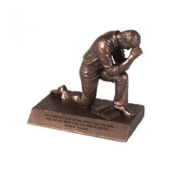 Lighthouse Christian Products Small Prayer Praying Man Sculpture, 4 1/2 X 2 3/4 X 4 1/2″