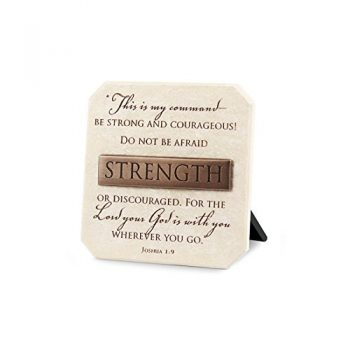 Lighthouse Christian Products Strength Title Bar Plaque, 3 3/4 X 3 3/4″, Bronze