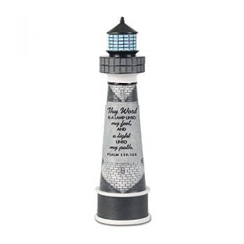 Lighthouse Christian Products Thy Word Is A Lamp Sculpture, 2 1/4 X 8 1/2″