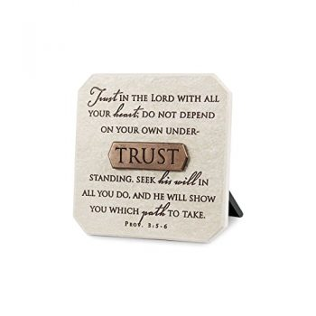 Lighthouse Christian Products Trust Title Bar Plaque, 3 3/4 X 3 3/4″, Bronze