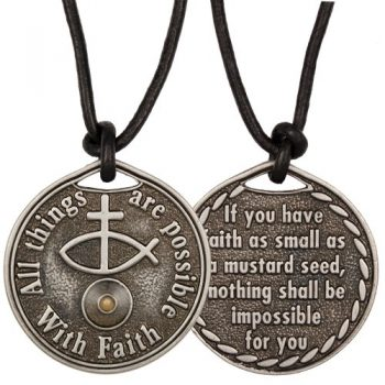 Mustard Seed Coin Necklace Faith