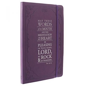 Purple Psalm 19:14 Flexcover Journal / Notebook