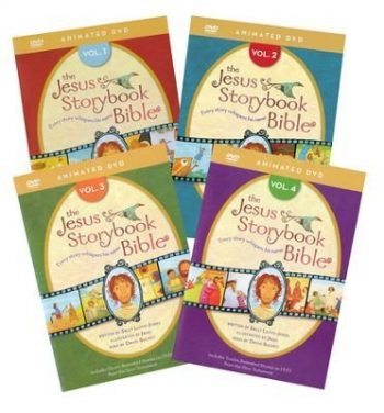 The Jesus Storybook Bible Animated DVD Complete Set Volumes 1 4 By Sally Lloyd Jones Zondervan 0