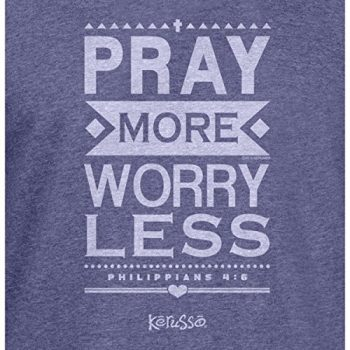 Pray More Worry Less Hooded Christian T-Shirt