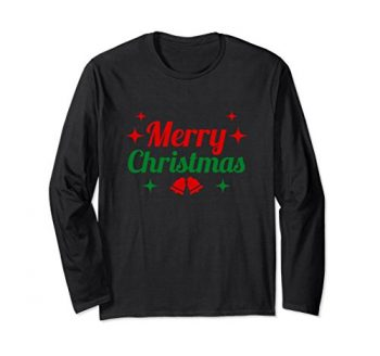 Merry Christmas Long Sleeve T-shirt With Graphics
